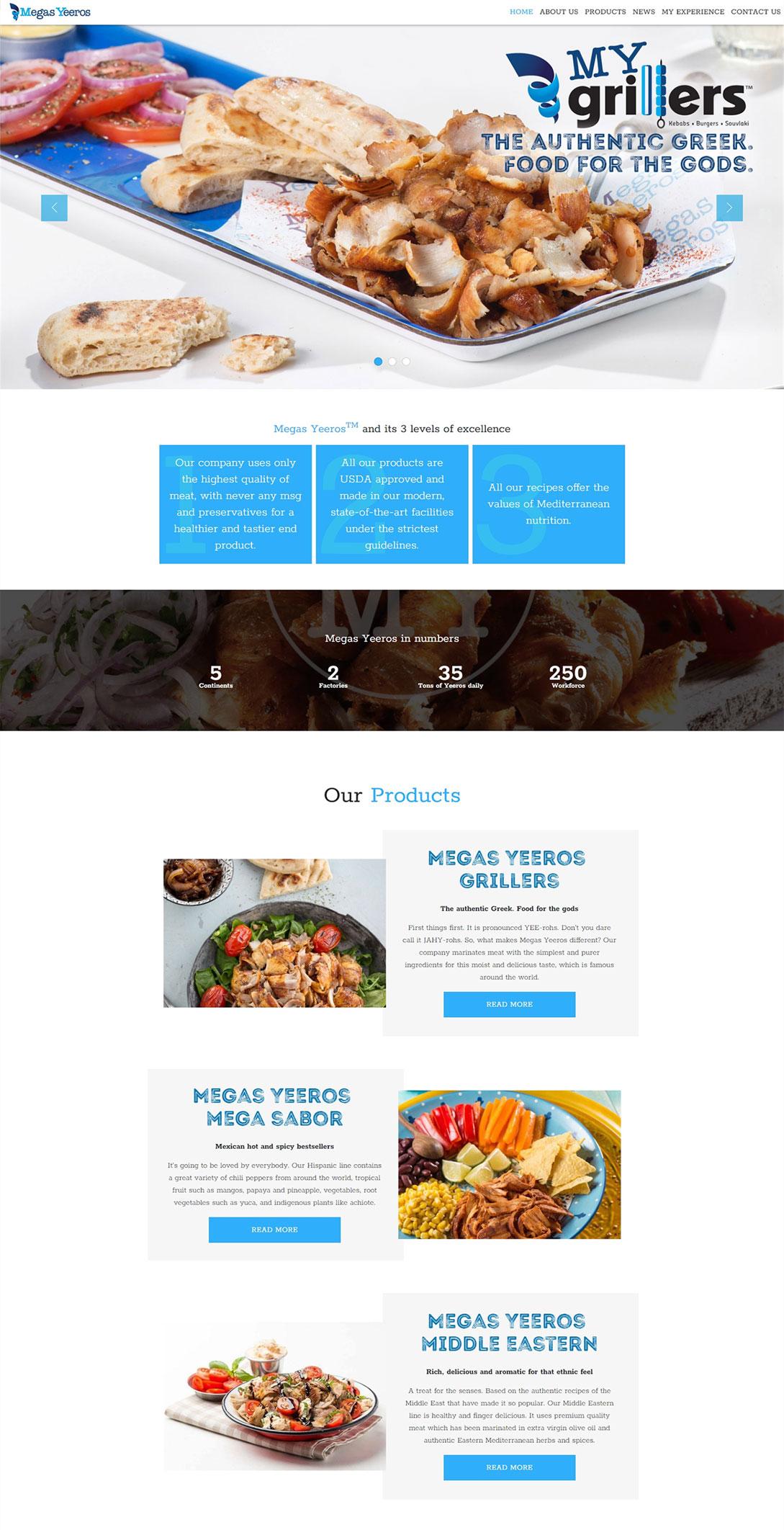 Megas Yeeros homepage fullscreen