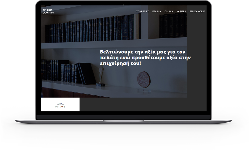 Pelekis Law Firm laptop