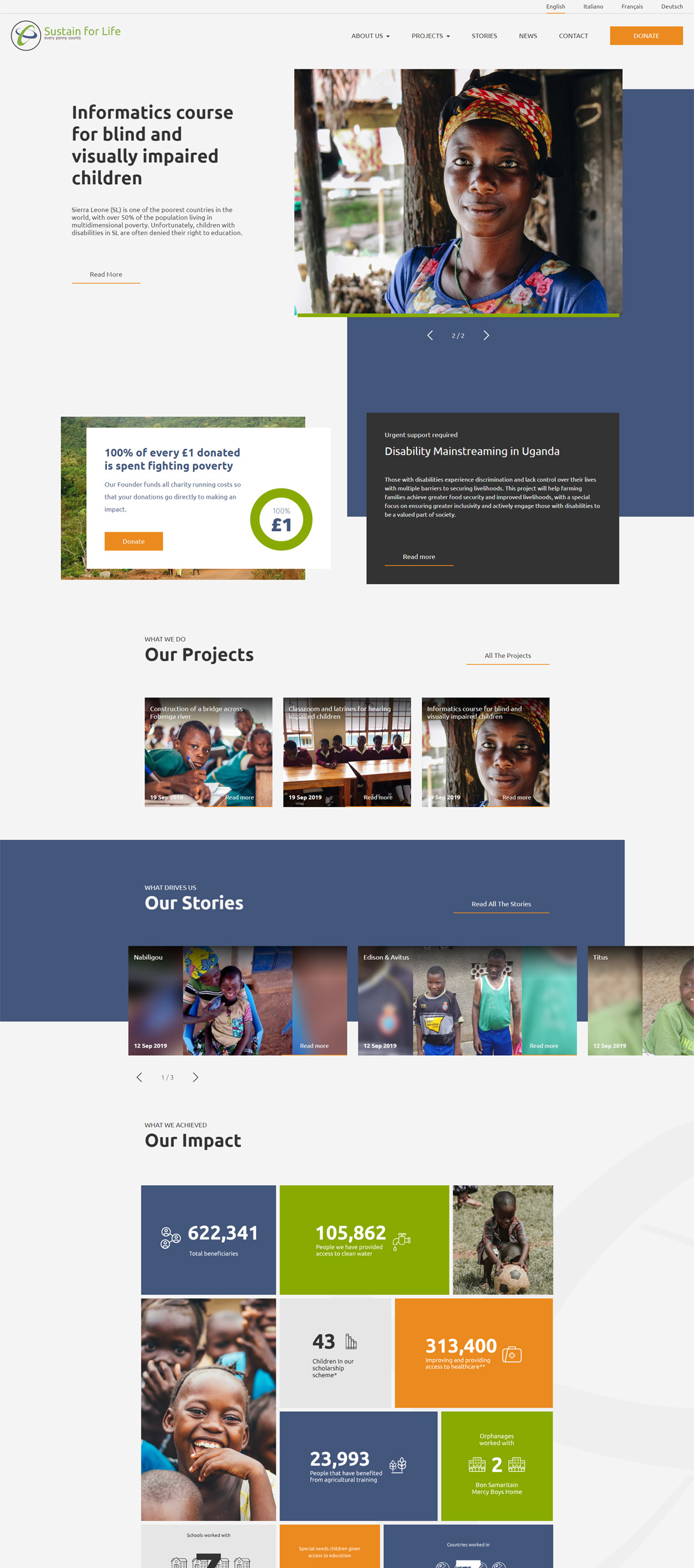 Sustain for Life homepage fullscreen