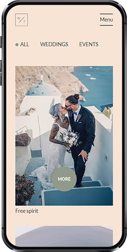 Wedding Tales Santorini iphone screen 3