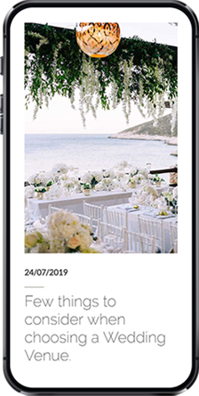 Wedding Tales Santorini iphone screen 1